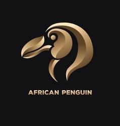 African penguin logo vector