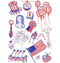 America doodles vector