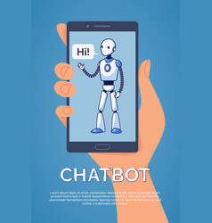 artificial intelligence chatbot concept vector image