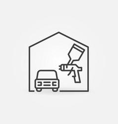 Auto body painting concept line icon vector