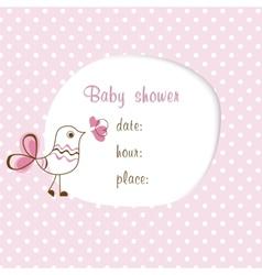 bagirl shower vector image