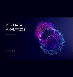 Big data visualization background 3d big data vector
