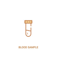 Blood sample concept 2 colored icon simple line vector