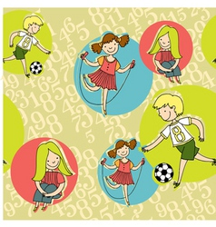 boys girls vector image