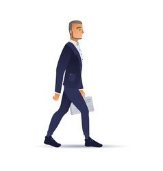 businessman suit with vector image