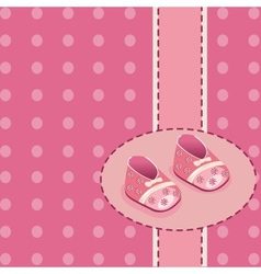 card for bagirl shoes vector image