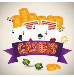 Casino icon desin vector