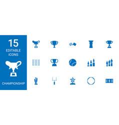 Championship icons vector