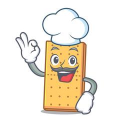 Chef graham cookies character cartoon vector