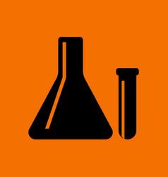 Chemical bulbs icon vector