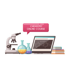 Chemistry lesson icon vector
