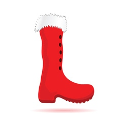 christmas red boots vector image