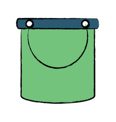 cleaning bucket icon image vector image