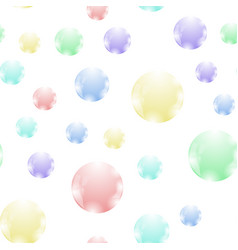colored soap bubbles seamless pattern vector image