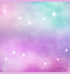 colorful space galaxy background with shining vector image