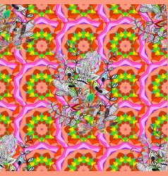 Colour spring theme seamless pattern background vector