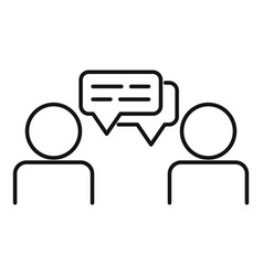 Cooperation conversation icon outline style vector