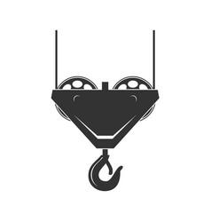 crane hook vector image