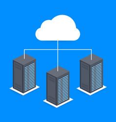 Data center cloud connection hosting server vector