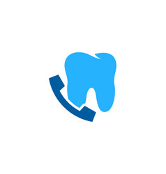 dental call logo icon design vector image
