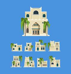 Desert arabic buildings egypt antique old vector