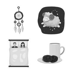 Dreams and night icon set vector