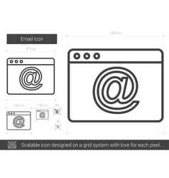 Email line icon vector image