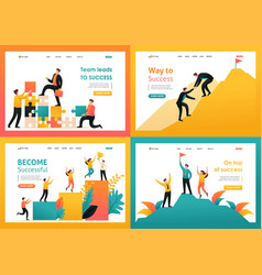 Flat 2d on topic of achieving success vector