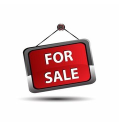 For sale icon banner selling a house apartment or vector