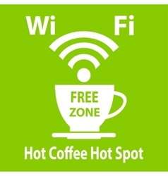 Free wifi cybercafe poster vector