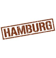 Hamburg brown square stamp vector