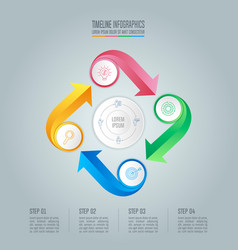 Infographic design business concept with 4 options vector