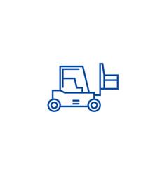 loader sign line icon concept loader sign flat vector image