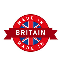 made in britain uk united kingdom england label vector image