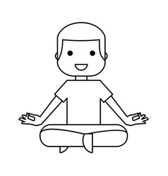 man practicing yoga character vector image