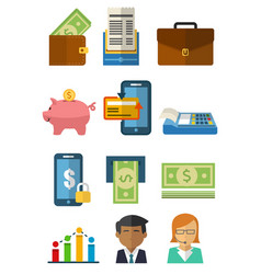 many object in business vector image