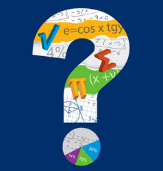 math question mark vector image