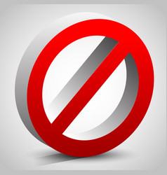 modern deny do not dont sign vector image