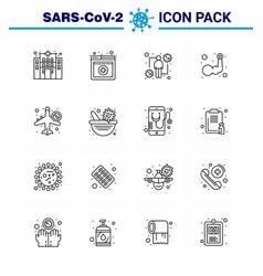 Novel coronavirus 2019-ncov 16 line icon pack vector
