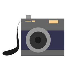 old camera on white background vector image