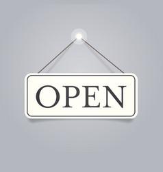 open door advertising sign store opening concept vector image