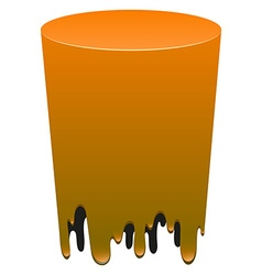 Orange color melting on white vector