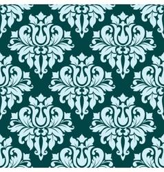 Ornate blue bold damask pattern vector