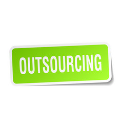 outsourcing square sticker on white vector image