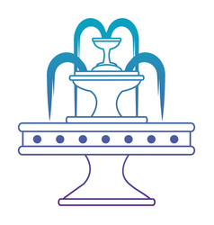 park water fountain icon vector image