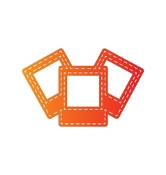 Photo sign Orange applique isolated vector image