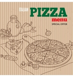 Pizza menu template vector image