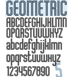 Poster black striped geometric stylish font and vector