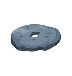 Prehistoric stone wheel stone age symbol vector