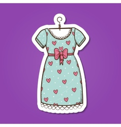 Pretty dress vector image
